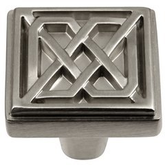 Celtic Square Knob 1-1/4 inch Diameter Stainless Steel