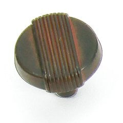 Wired 1-1/4 Inch Diameter Black With Terra Cotta Wash Cabinet Knob <small>(#39021)</small>