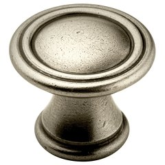 Vasari 1-3/16 Inch Diameter Antique Nickel Cabinet Knob <small>(#BP24009AN)</small>