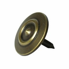 Small Double-Ring Clavo 1-3/16 inch Diameter - Antique Brass