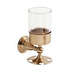 Victorian Toothbrush and Tumbler Holder Champagne Bronze <small>(#75056-CZ)</small>