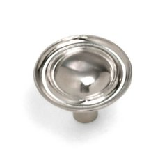 Georgetown 1-1/4 Inch Diameter Satin Chrome Cabinet Knob