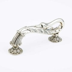 Swans 5 Inch Center to Center White Brass Cabinet Pull