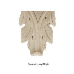 Brown Wood Medium Acanthus Onlay Unfinished Hard Maple 01912523HM1
