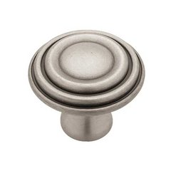 Circles & Scrolls 1-1/2 Inch Diameter Brushed Satin Pewter Cabinet Knob