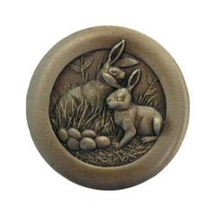 All Creatures 1-3/8 Inch Diameter Antique Brass Cabinet Knob <small>(#NHK-166-AB)</small>