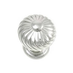 French Twist 1-1/4 Inch Diameter Polished Nickel Cabinet Knob <small>(#83914)</small>