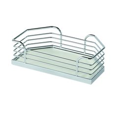 "Arena Plus Chefs Pantry Door Tray Set 11-1/8"" W Chrome/White"