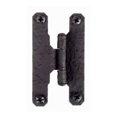 "Rough Iron 3/8 inch Offset ""H inch Hinge Black Iron"