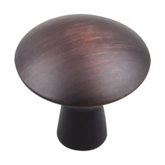 "Zachary Knob 1-1/16"" Dia Brushed Oil Rubbed Bronze <small>(#988DBAC)</small>"