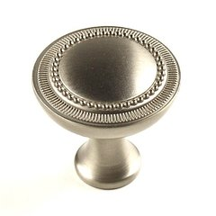 Kentwood 1-1/4 Inch Diameter Dull Satin Nickel Cabinet Knob