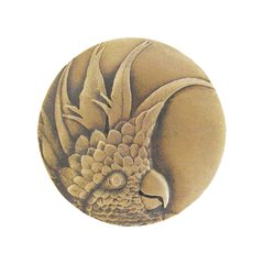 Tropical 2 Inch Diameter Antique Brass Cabinet Knob <small>(#NHK-327-AB-L)</small>