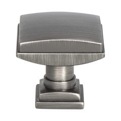 "Tailored Traditional Knob 1-1/4"" Dia Vintage Nickel <small>(#1277-1VTN-P)</small>"