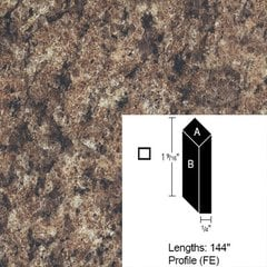 Wilsonart Bevel Edge - Milano Brown-12Ft