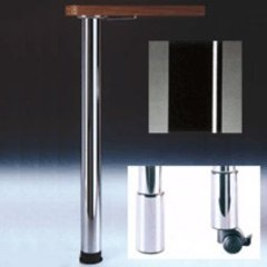 "Zoom Table Leg Set Black Gloss 34-1/4"" H"