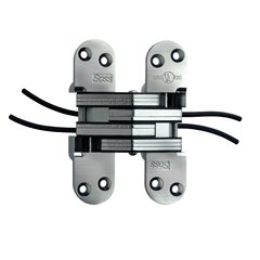 #218 Power Transfer Invisible Hinge Satin Chrome <small>(#218PT4US26D)</small>
