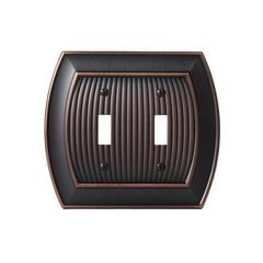 Allison Two Toggle Wall Plate Oil Rubbed Bronze