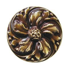 English Garden 1-3/8 Inch Diameter Antique Brass Cabinet Knob