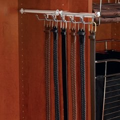 Belt/Scarf 14 inch Organizer Satin Nickel