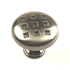 Majestic 1-3/8 Inch Diameter Brushed Black Nickel Cabinet Knob