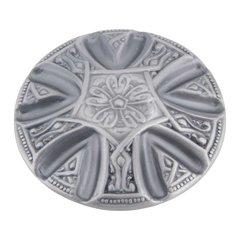 Maltese 1-5/8 Inch Diameter Pewter Cabinet Knob