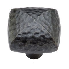 Mountain Lodge 1-1/4 Inch Diameter Black Iron Cabinet Knob