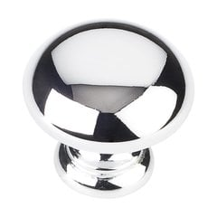 Geneva 1-1/4 Inch Diameter Polished Chrome Cabinet Knob