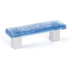 Aqua 2-1/2 Inch Center to Center Blue Cabinet Pull
