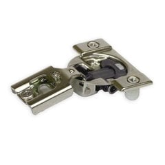 Compact Blumotion 38N Hinge and Mounting Plate 1/2 inch Overlay
