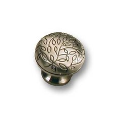 Vine 1-1/4 Inch Diameter Satin Antique Nickel Cabinet Knob