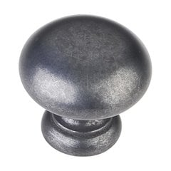 Geneva 1-1/4 Inch Diameter Dark Antique Copper Machined Cabinet Knob