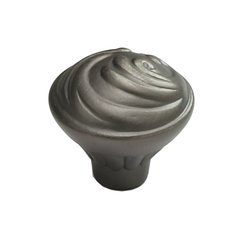 Arcadia Forged Solid Brass 1-3/8 Inch Diameter Antique Nickel Cabinet Knob