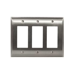 Candler Three Rocker Wall Plate Satin Nickel