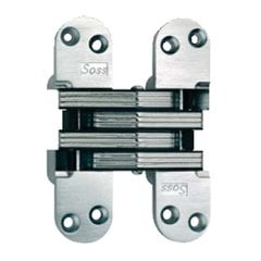 #218 Invisible Spring Closer Hinge Satin Chrome