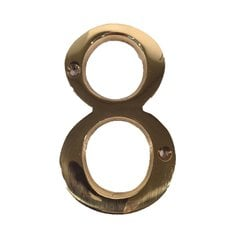 "4"" House Number ""8"" Bright Brass <small>(#BN4-8-605)</small>"