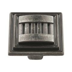 Sydney 1-5/16 Inch Diameter Black Nickel Vibed Cabinet Knob