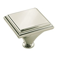 Manor 1-7/16 Inch Diameter Polished Nickel Cabinet Knob