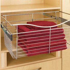 Pullout Wire Basket 24 inch W x 16 inch D x 11 inch H <small>(#CB-241611CR)</small>