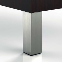 "Peter Meier 556 Square Leg Set 4"" H Brushed Steel 556-10-ST"