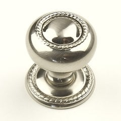 Saturn 1-1/4 Inch Diameter Satin Nickel Cabinet Knob