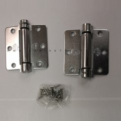 LB4311-400 1/4 inch Radius Corner Single Act Spring Hinge-Chrome <small>(#LB4311-400-652)</small>