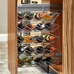 5375 Wine Base Organizer with Soft Close Chrome
