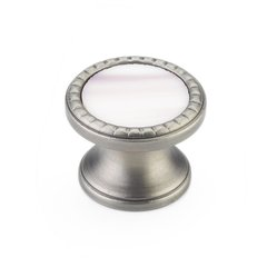 "Kingsway Round Knob 1-1/4"" Dia Antique Nickel/Champagne <small>(#20-AN-CH)</small>"