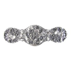 Floral 3 Inch Center to Center Satin Nickel Cabinet Pull