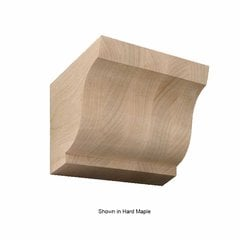 Medium Simplicity Corbel Unfinished Red Oak
