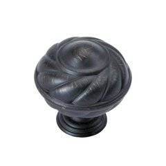 "French Country Knob 1-5/16"" Dia Vintage Bronze"