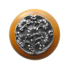 Leaves 1-1/2 Inch Diameter Antique Pewter Cabinet Knob <small>(#NHW-702M-AP)</small>