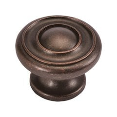 Cottage 1-1/2 Inch Diameter Dark Antique Copper Cabinet Knob