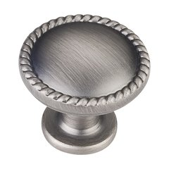 Lindos 1-1/4 Inch Diameter Bright Nickel Brushed with Dull Lacquer Cabinet Knob
