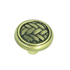 Harris 1-1/4 Inch Diameter Brushed Antique Brass Cabinet Knob